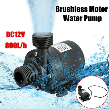 Mini DC 12V 800L/H Submersible Water Pump Lift Brushless Motor Ultra Quiet Water Pump 16ft for Fountain Solar Panel Pond Aquarium Water Circulation (12v Dc Water Pump Price In India)