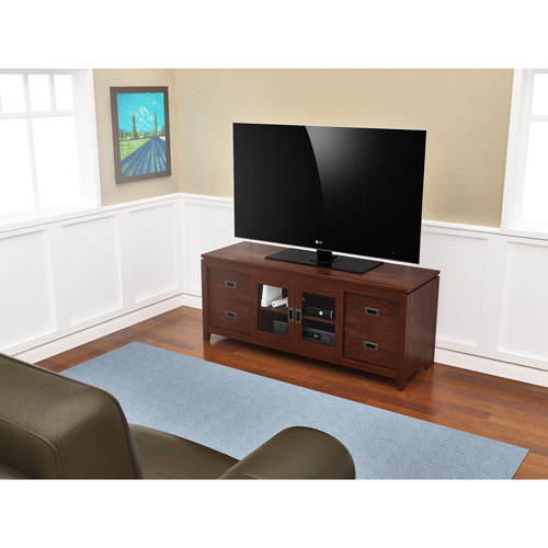 "Tenley TV Stand, For TV's Up to 70"", Wood, Rich Cherry"