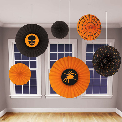 Halloween Paper Fan Decorations