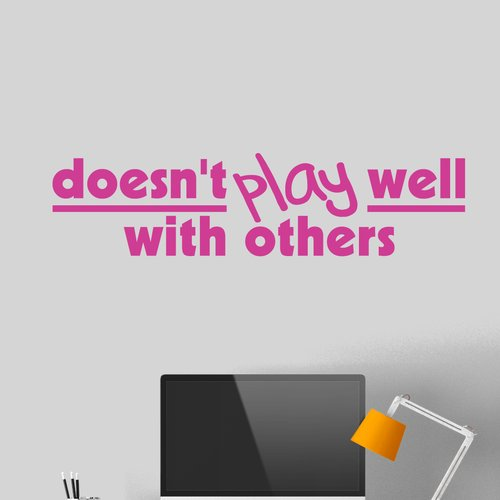 Winston Porter Feumore Doesn't Play Well with Others Wall Decal (Set of 3)