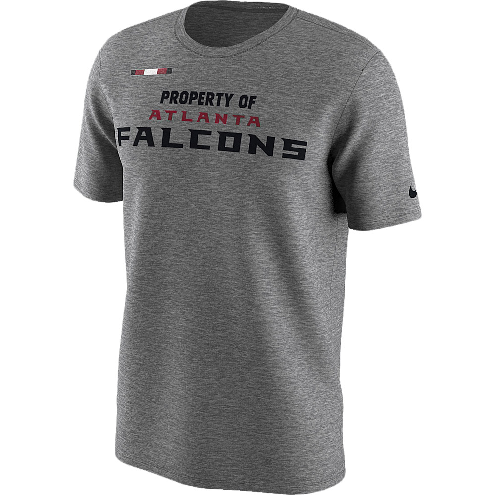 Atlanta Falcons Nike Sideline Property Of Facility T-Shirt - Heather Gray