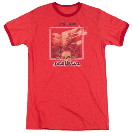 ZZ Top- Deguello Cover Adult Ringer T-Shirt Tee
