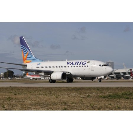 Varig Airlines - Boeing 737 from Varig Brazilian Airline Taken at Natal Airport, Brazil Print Wall Art By Stocktrek Images