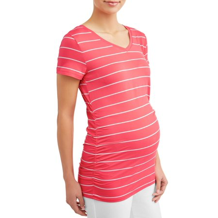 Maternity Short-Sleeve Stripe Tee
