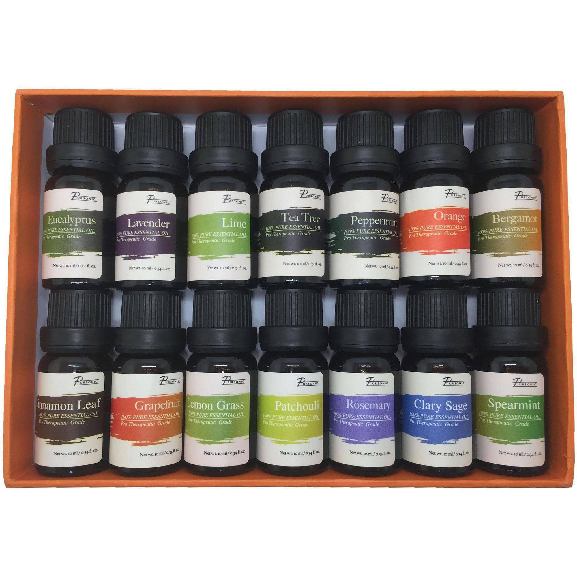 delightful Lemon Grass Walmart Part - 5: Pursonic Pure Essential Aroma Oils, 14-Pack - Walmart.com