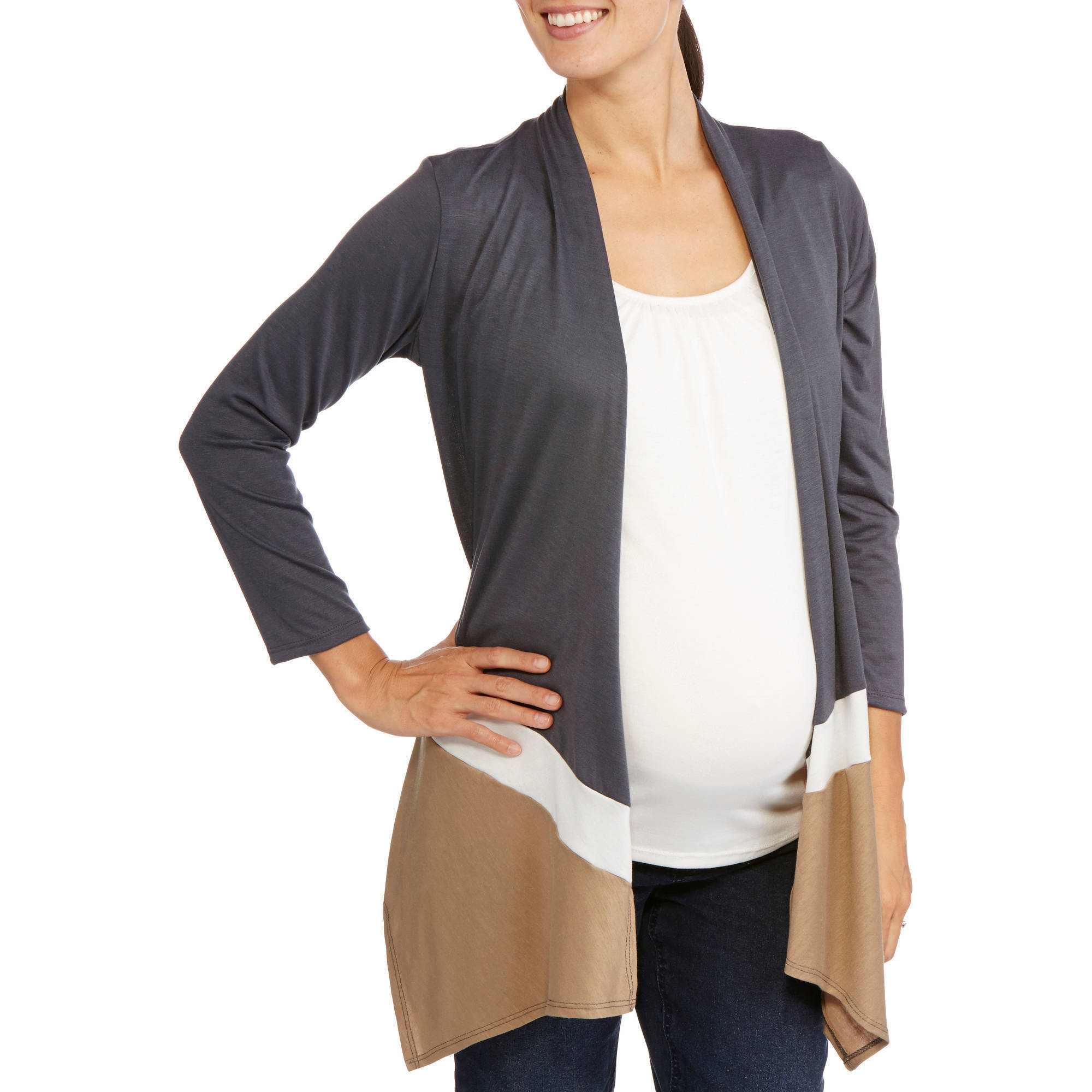 Planet Motherhood Maternity Long Sleeve Colorblock 2Fer