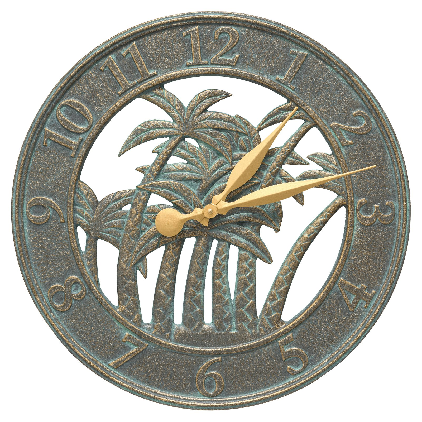 Whitehall 18 in. Palm Tree Indoor/Outdoor Wall Clock