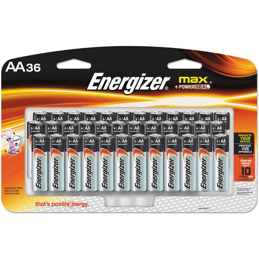 Energizer MAX Alkaline AA Batteries, 36 Pack