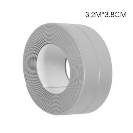 3.2m*38mm Gray Bath and Shower Self Adhesive Caulk Strip, Tub and Wall Sealing Tape Caulk Bathtub