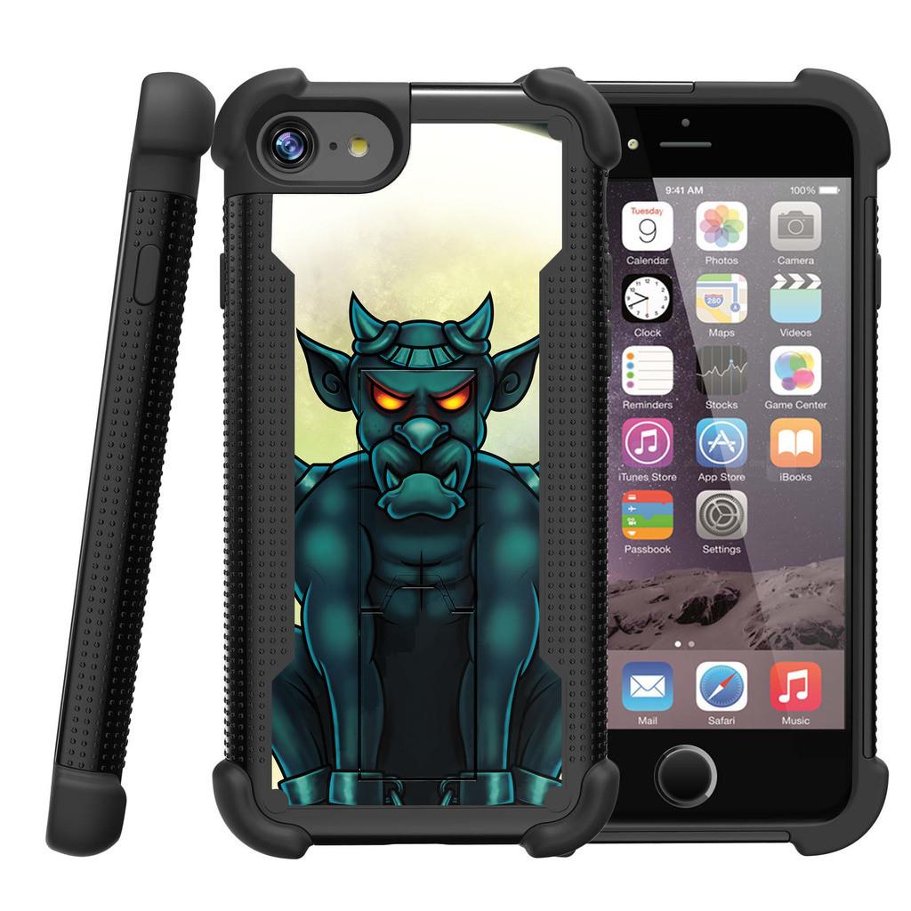 """Apple iPhone 7 4.7"""" Shockwave Armor Dual Layer Kicsktand Case - Gargoyle"""