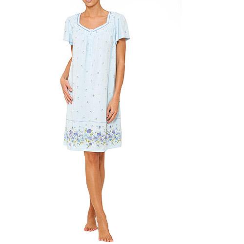 Simply Basic Women's Short Sleeve Print Nightgown