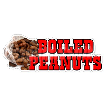 BOILED PEANUTS Concession Decal sign cajun cart trailer stand sticker](Concessions Stand)