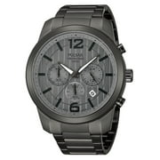 Mens Chronograph Stainless Watch - Gray Bracelet - Gray Dial - PT3281