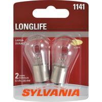 Sylvania 1141 Long Life Halogen Auto Mini Bulbs, Pack of 2.