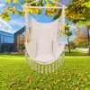 Large Hammock Chair Swing, Relax Hanging Rope Swing Chair with Two Seat Cushions, Soft Cotton Hammock Chair Swing Seat for Yard Bedroom Patio Porch Indoor Outdoor - Beige, B1534