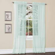 Lola Aqua Blue Window Curtains, Pair