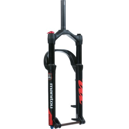Manitou Mastodon Comp Fat Bike Fork, 120mm Travel, 15 x 150 mm Axle, Tapered, Matte Black, Standard version-fits up to a 4