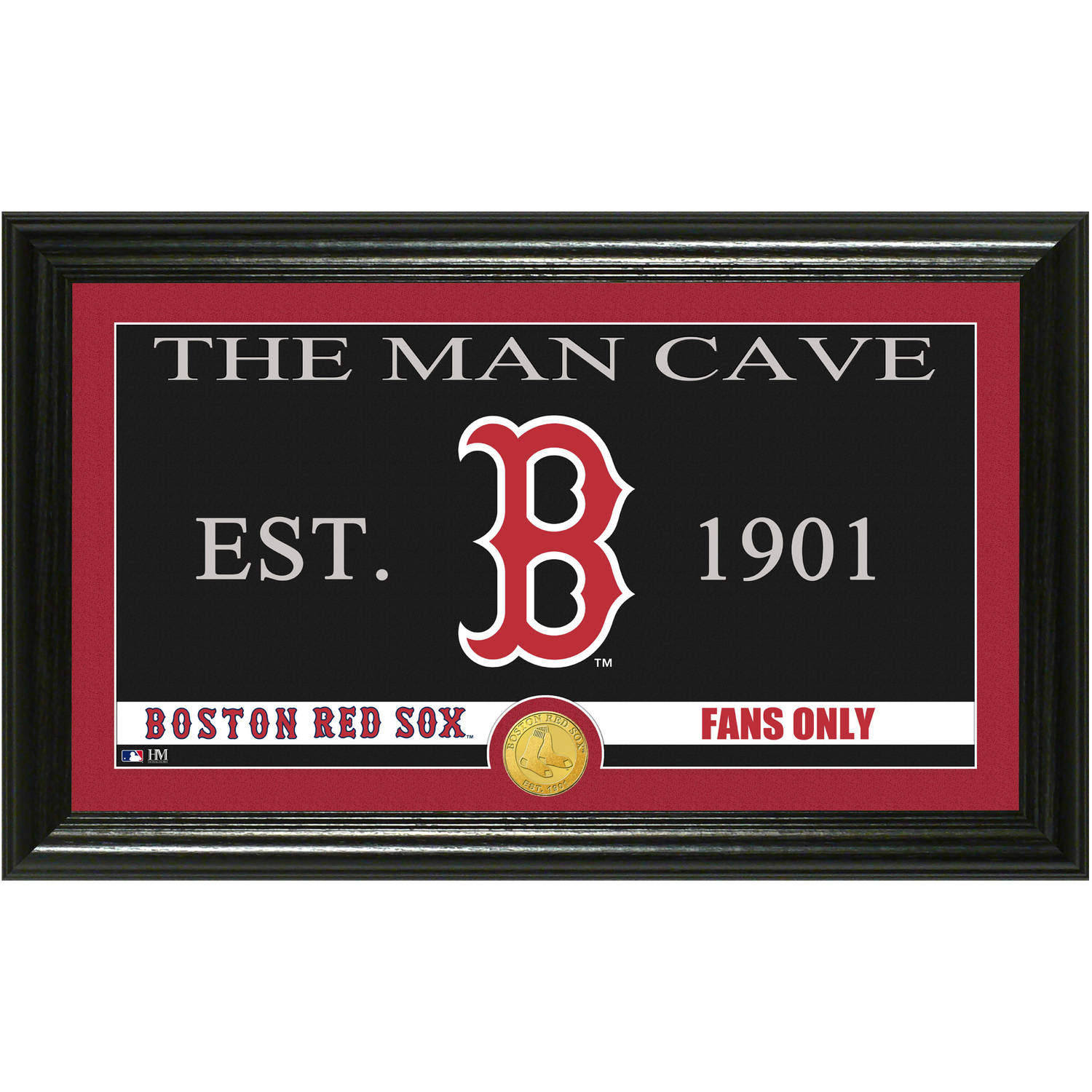 The Highland Mint MLB Man Cave Bronze Coin Panoramic Photo Mint, Boston Red Sox