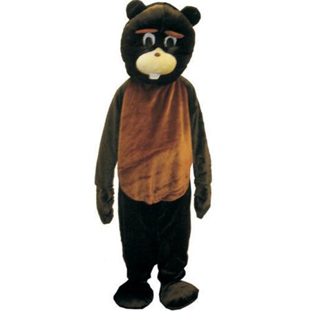 Dress Up America 473-L Adult Beaver Mascot Costume - Large](Animal Mascot Costumes)