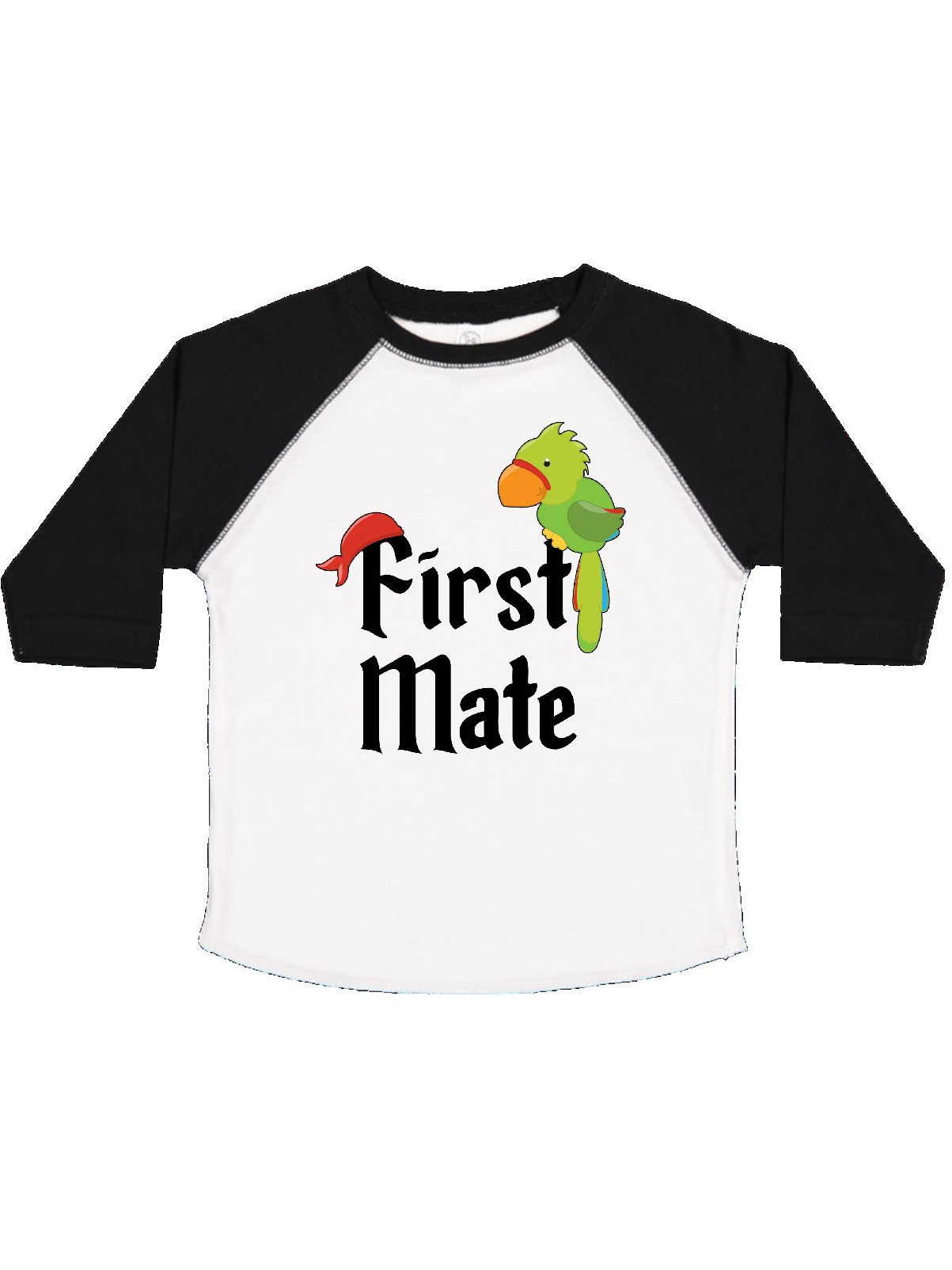 First Mate pirate with parrot and bandanna Toddler T-Shirt