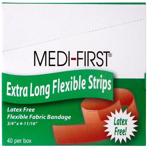 "Adhesive Bandages, Extra Long 3/4"" x 4 11/16"" 40 pieces Per Box MS-28535"