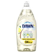 Dawn Pure Essentials Dishwashing Liquid Dish Soap, Lemon Essence, 34 Fl Oz