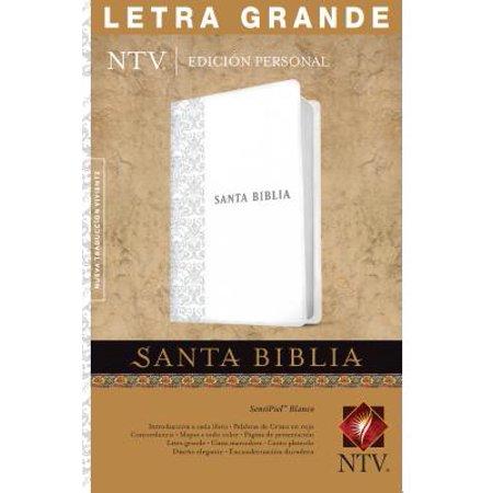 Santa Biblia NTV, Edición personal, letra grande (Letra Roja, SentiPiel, Blanco, Índice)