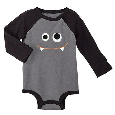 Infant Boys Vampire Monster Face Halloween Bodysuit with Bat Wings](Monster Onsie)