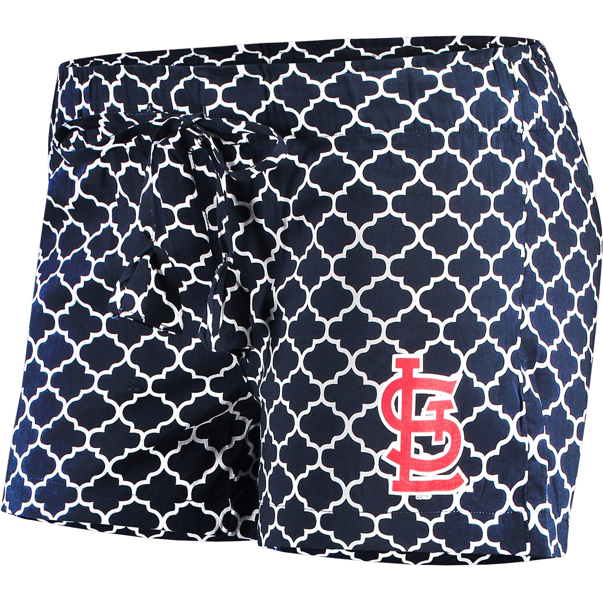 St. Louis Cardinals Concepts Sport Women's Slumber Sleep Shorts - Navy/White