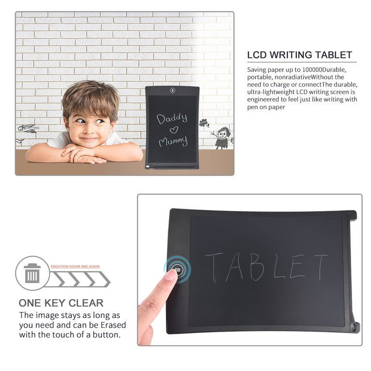 8.5inch Durable Portable Ultra-lightweight Nonradiative Long Image Staying Saving Paper One Key Clear LCD Writing Tablet