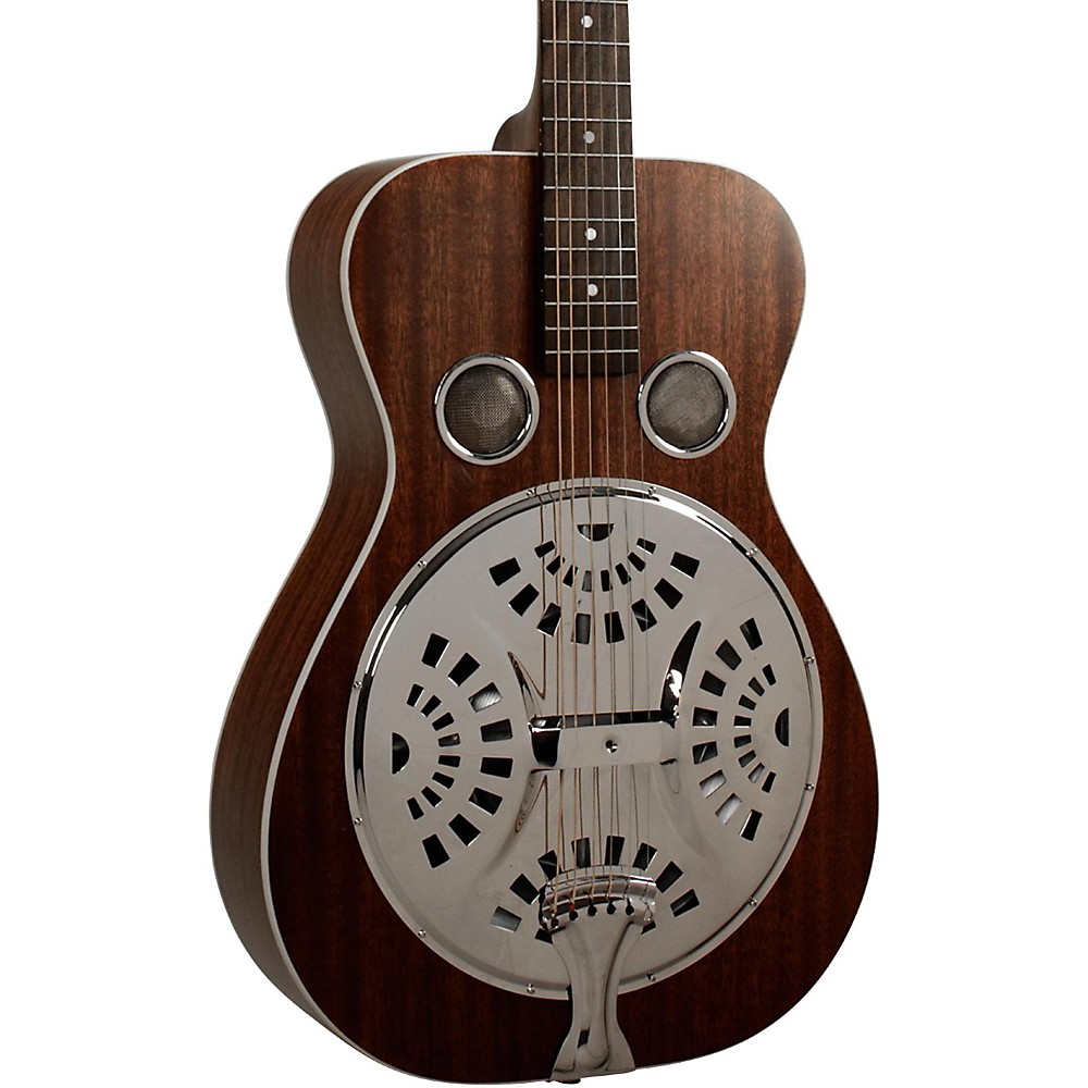 Recording King RR-51-BR Professional Roundneck Resonator Guitar Satin Brown