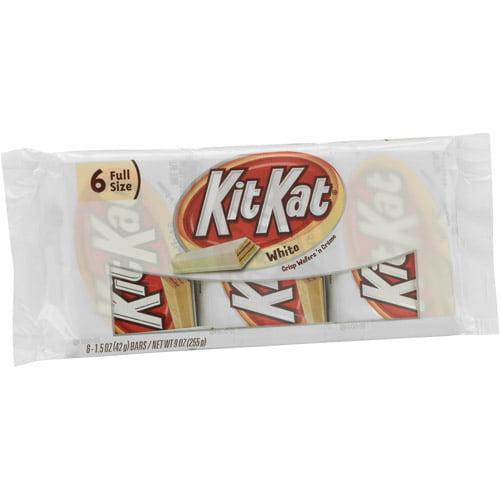Kit Kat White Chocolate Wafer Bars. 6 count