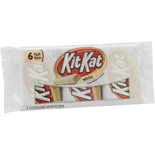 Kit Kat White Chocolate Wafer Bars. 6 count