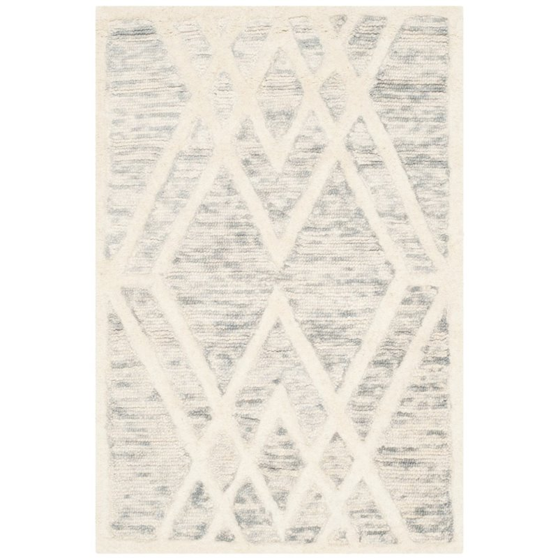 Safavieh Cambridge 4' X 6' Hand Tufted Wool Rug in Gray and Ivory - image 10 of 10