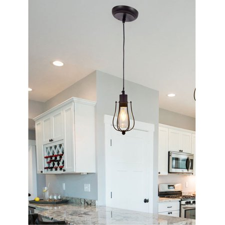 SYLVANIA Lowell Cage Pendant Light, LED, Dimmable