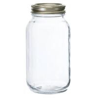 Anchor Hocking Regular 1 Qt Glass Jar, 12-Pack