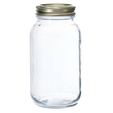 Anchor Hocking Regular 1 qt Glass Jar, 12-Pack - Glass Jars For Sale