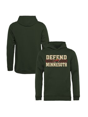 Minnesota Wild Fanatics Branded Youth Hometown Collection Defend Pullover Hoodie - Green