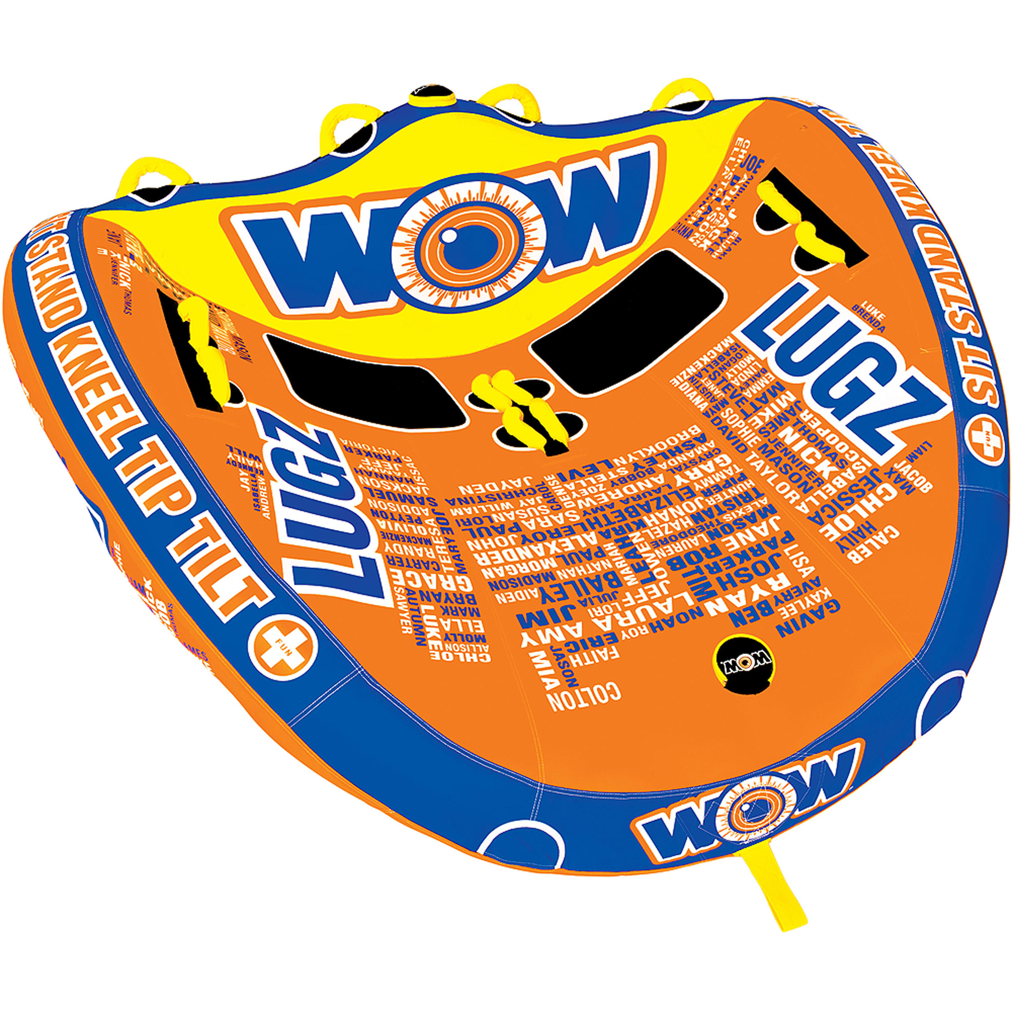 WOW World of Watersports, 13-1040, Lugz 2 Towable, 3 Tow Points, Steerable, 1 or 2 Person by World of Watersports