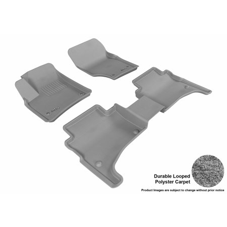 3D MAXpider 2003-2010 Porsche Cayenne Front & Second Row Set All Weather Floor Liners in Gray (Porsche Carpet Kits)