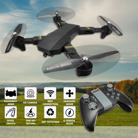 VISUO XS809HW WIFI FPV RC Quadcopter Drone 2MP Wide Angle HD Camera High Hold Mode Foldable Arm Kids Toys Christmas Birthday Gifts