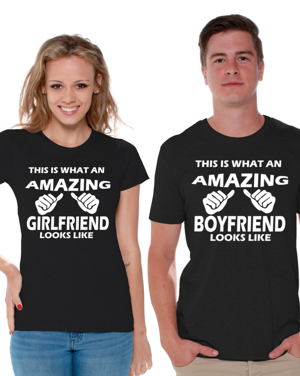 This Is What An Awesome Girlfriend Looks Like Womens T Shirt Ladies Valentines