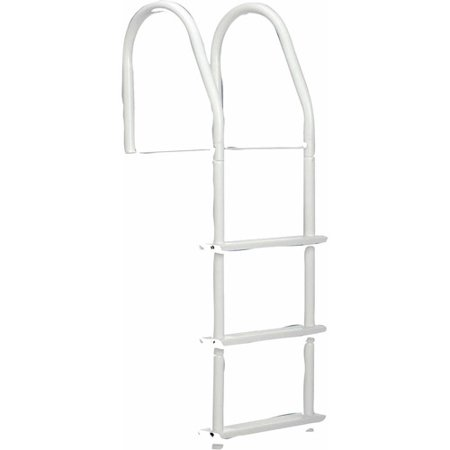 Dock Edge Bright White Howell Galvalume Fixed Dock Ladder with