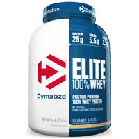 Dymatize Elite 100% Whey Protein Powder, Gourmet Vanilla, 25g Protein/Serving, 5 Lb