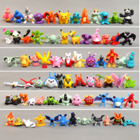48 Pcs Anime Figure Mini Action Figures Monster Toys 2-3 cm for Pokemon Figure Collection, Great Gifts for Kids