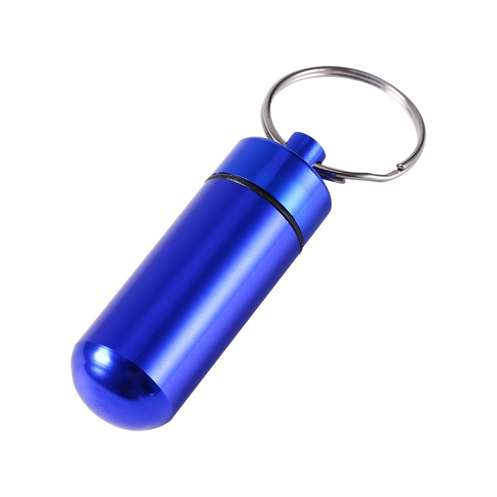Yosoo Health Gear Airtight Pill Case Waterproof Pill Fob Capsule Keychain EDC Accessory Bottle Match Case Battery Holder Outdoor Survival Storage Stainless Steel Container Dry Box