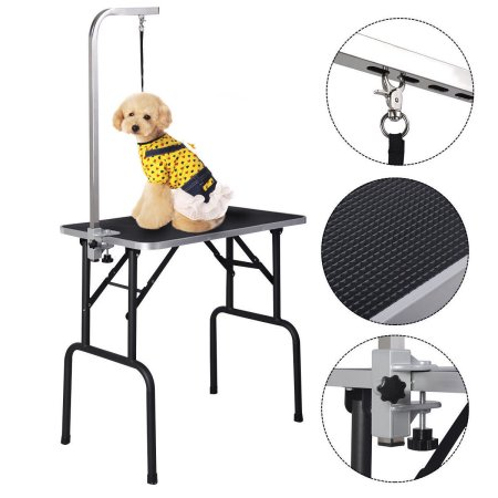 Zimtown 30'' Pet Foldable Grooming Table, Adjustable ARM Noose Groom