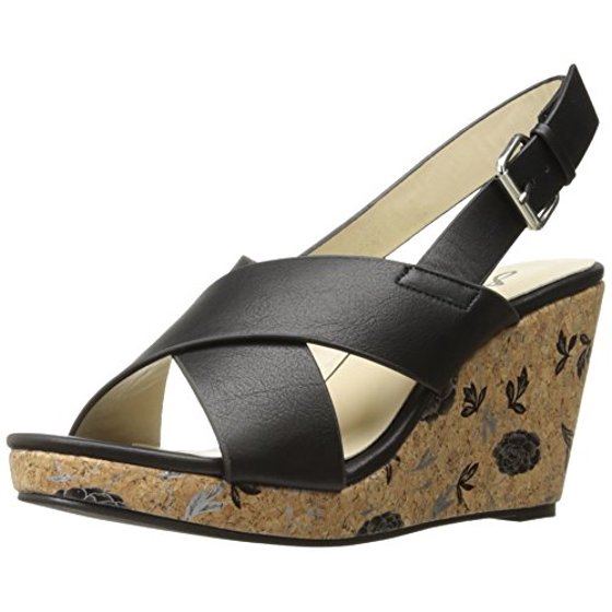 cc80856854a Annie Shoes Women's Hypo Drive W Espadrille Wedge Sandal, Black, 9.5 W US