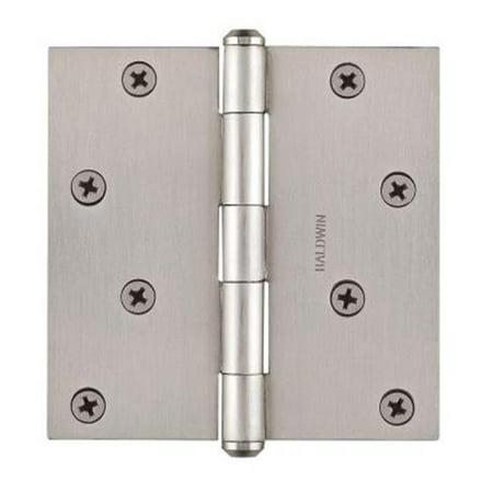 Baldwin  BR7028  Plain Bearing  Mortise Hinge  Door Hinge  4 x 4  ;Satin Nickel