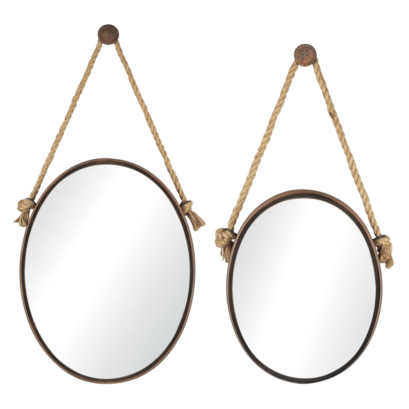 Sterling Oval Wall Mirrors - Set of 2
